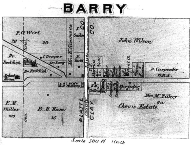 Map of the Town of Barry in 1877