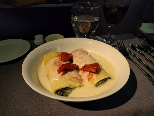 Cannelloni on United BusinessFirst to Berlin