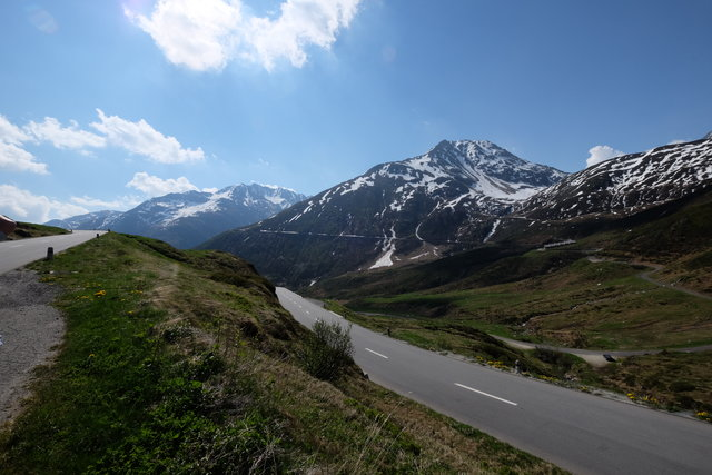 Oberalp Pass between Disentis and Andermatt