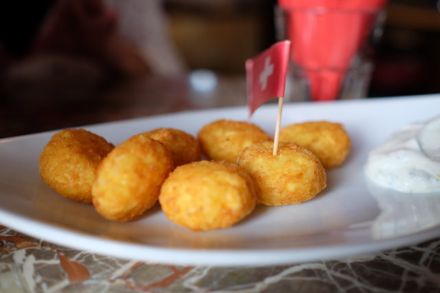 Croquettes at Cafe Odeon