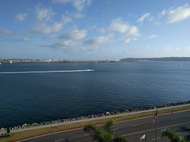 San Diego Bay from my harborfront hotel room