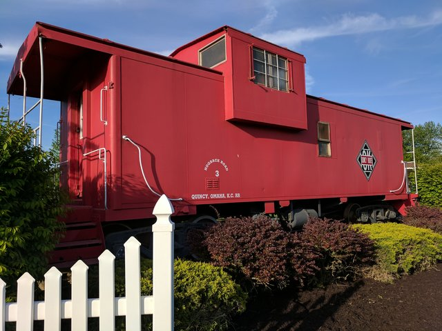 Quincy, Omaha, and Kansas City Railroad caboose