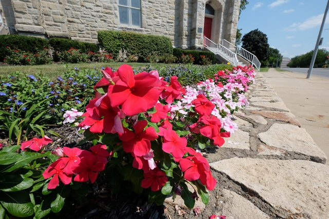 Flowers at the Stone Church