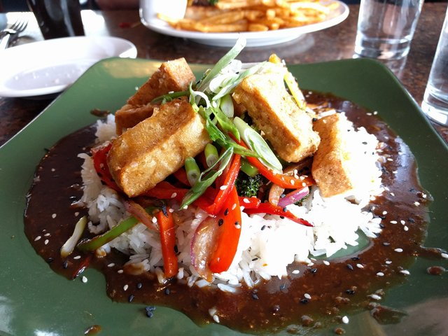 Alaska Tofu at Kinsley's in Anchorage