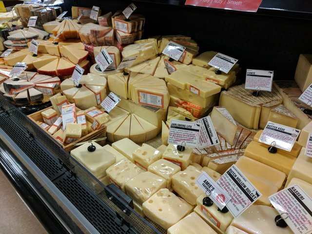 Cheese selection at Fred Meyer