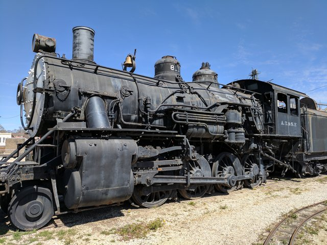 AT&SF locomotive in Atchison, Kansas