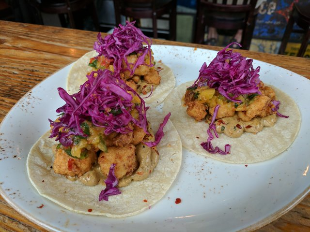 Cauliflower tacos at Rustic Goat in Anchorage