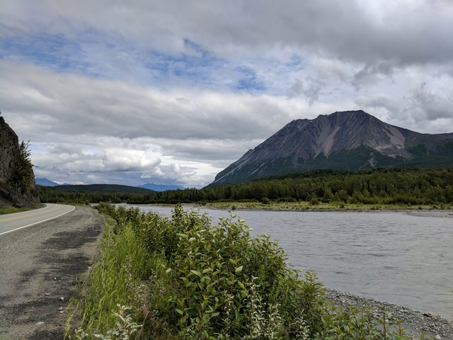 Nice drive along the Matanuska River outside Anchorage
