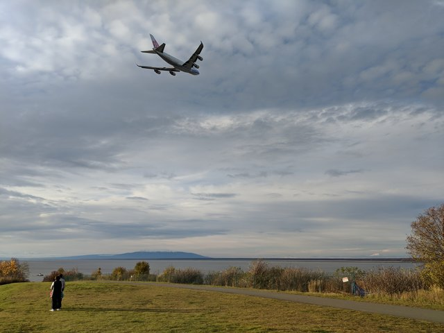 Cargo plane taking off from Anchorage International