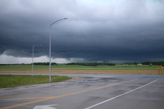 Supercell over the Manhattan, Kansas airport